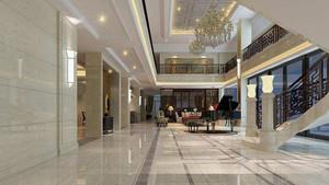 300平米酒店大厅石膏板吊顶装修效果图