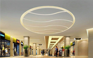 500平米商场石膏板吊顶装修效果图