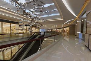 700平米商场石膏板吊顶装修效果图