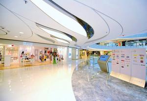 800平米商场石膏板吊顶装修效果图