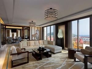 200平米新中式风格总统套房装修效果图