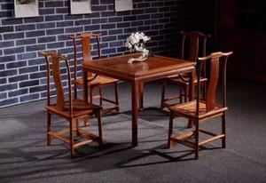 方形红木餐桌家具店装修效果图