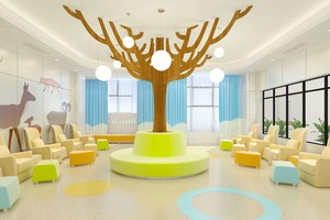 80平儿童医院输液室装修效果图