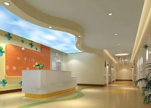 100平儿童医院护士站装修效果图