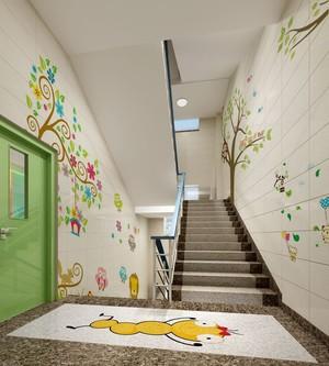 卡通风格儿童医院楼梯间装修效果图