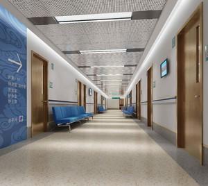 6000平合肥医院走廊装修效果图