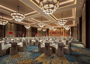 800平豪华新中式风格酒店隔断装修效果图