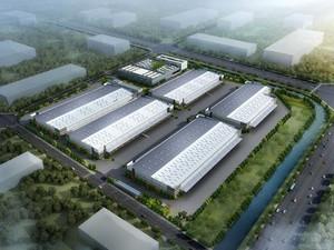 5000平工厂布局设计效果图