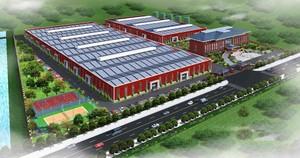 5500平工厂布局设计效果图