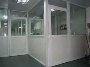 200平米办公室现代风格塑钢隔断装修效果图