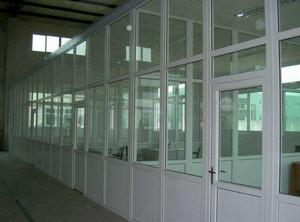 300平米办公室现代风格塑钢隔断装修效果图