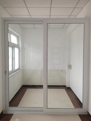 300平办公室现代风格塑钢隔断装修效果图