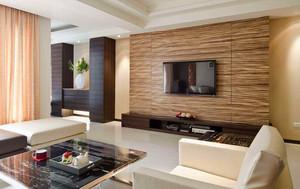 124平米客厅电视柜背景墙装修效果图