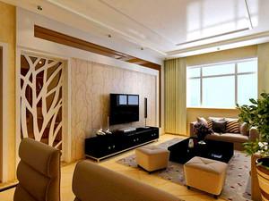 125平米客厅电视柜背景墙装修效果图