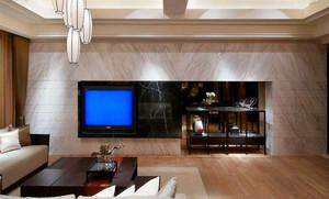 105平米客厅电视柜背景墙装修效果图