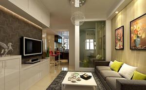 126平米客厅电视柜背景墙装修效果图
