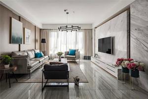 118平米客厅电视柜背景墙装修效果图