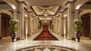 新中式酒店大堂天花吊顶效果图