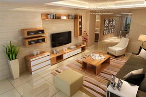 115平米客厅电视柜背景墙装修效果图