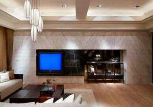 三居室客厅电视柜背景墙装修效果图