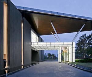 酒店大门雨棚钢结构效果图