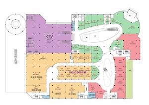 商场彩色平面图