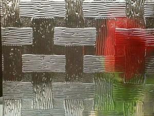 小户型简约布纹压花玻璃图