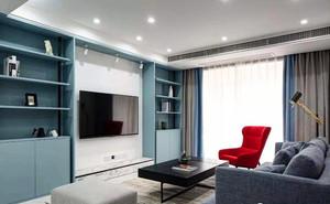 120平米客厅电视背景墙柜装修效果图