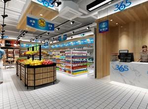 60平超市设计简约欧式风格装修效果图