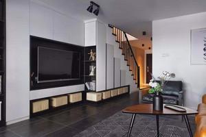 118平米客厅电视背景墙柜装修效果图