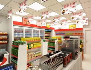 30平小型超市简欧风格装修效果图