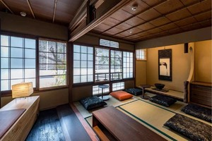 9平书房榻榻米日式风格一体化装修效果图