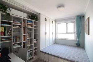 北欧风格榻榻米16平米书房装修效果图