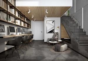 60平米复式楼办公室装修效果图
