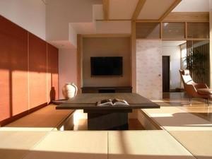 别墅榻榻米书房现代风格带升降桌装修效果图