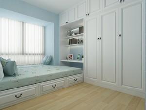 儿童榻榻米书房现代风格带衣柜装修效果图