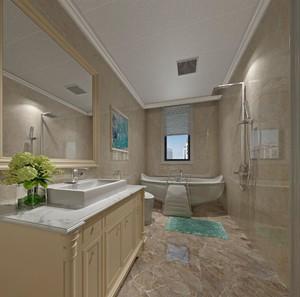 124平米两居室简欧风格房屋卫生间装修效果图