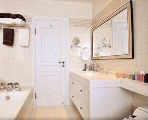 123平米大户型简欧风格房屋卫生间装修效果图