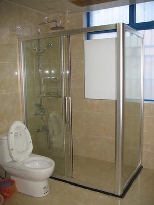 200平房子现代中式风格淋浴隔断装修效果图
