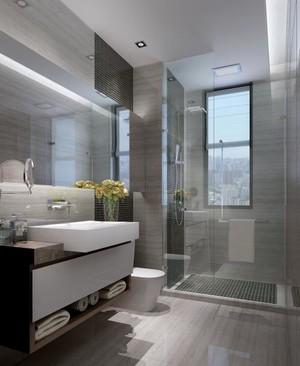 85平小户型现代欧式风格淋浴隔断装修效果图