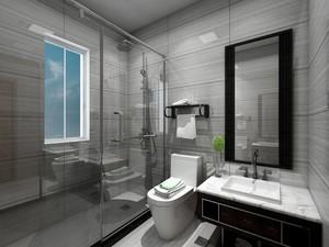 120平米跃层现代简欧风格淋浴隔断装修效果图