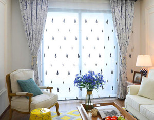 100平米客厅现代简约飘窗窗帘装修效果图