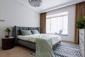 105平米卧室现代简约飘窗窗帘装修效果图