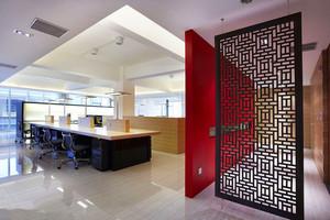 180平米公司办公室玄关隔断装修效果图