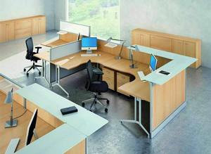 235平米公司办公室玄关隔断装修效果图