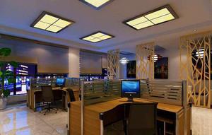 210平米公司办公室玄关隔断装修效果图