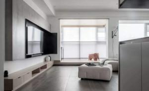 120平米大户型卧室灰色榻榻米装修效果图