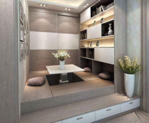 130平米大户型卧室灰色榻榻米装修效果图