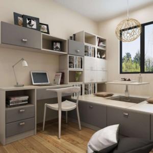 135平米大户型卧室灰色榻榻米装修效果图