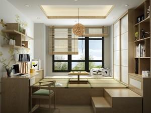 140平米房子中式榻榻米窗帘装修效果图